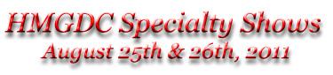 2011 HMGDC Show Information